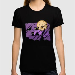 Scary Witch Cat T-shirt