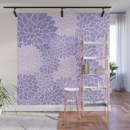 Lavender Dahlias Wall Mural