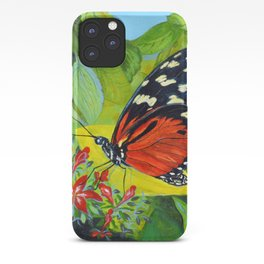 Tropical Butterfly 3 Acrylic Painting iPhone Case