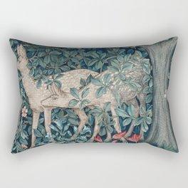 William Morris Forest Deer Greenery Tapestry Rectangular Pillow