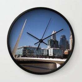 Woman's bridge (Argentina) Wall Clock