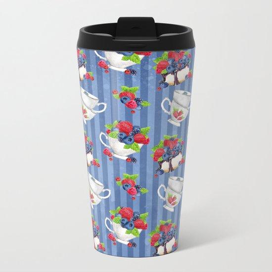 Berries Pattern 06 Metal Travel Mug