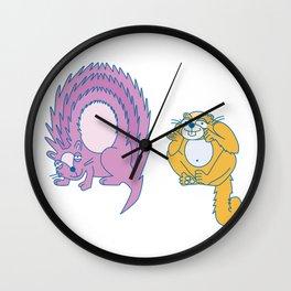 Q Uppercase/Lowercase Pair, no border Wall Clock