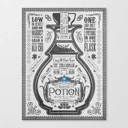 Legend of Zelda Blue Chu Potion Advertisement Canvas Print