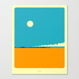 Minimal Landscape 27 (Desertscape) Canvas Print
