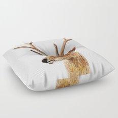 deer watercolor painting Floor Pillow