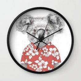 Summer koala Wall Clock
