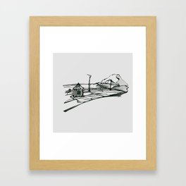 Ireland Bray Sea Front Framed Art Print