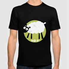Sheep Number 9.... Black Mens Fitted Tee SMALL