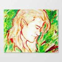legolas Canvas Prints featuring Legolas by AlysIndigo