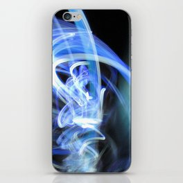 (Mostly) Blue Light Painting iPhone Skin