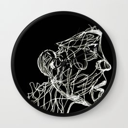 Face Full Of Lines INVERTED Wall Clock