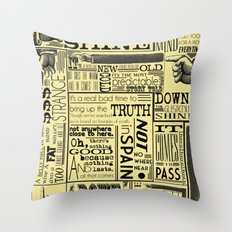 Down with the Shine Throw Pillow