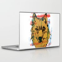 howl Laptop & iPad Skins featuring HOWL by Galvanise The Dog