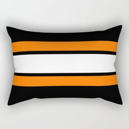 Team Colors...Orange , white stripes with black Rectangular Pillow