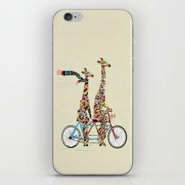 giraffe days lets tandem iPhone Skin