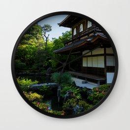 Silver Pavilion Wall Clock