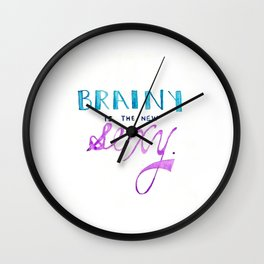 brainy's the new sexy Wall Clock