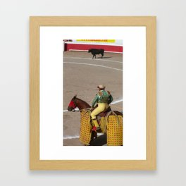 bull ring Framed Art Print