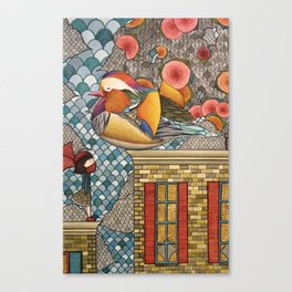 Rooftop Encounter Canvas Print