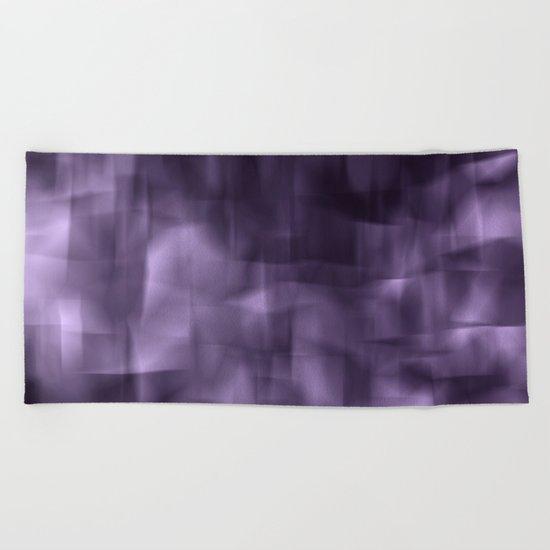 Purple abstract painting. Beach Towel