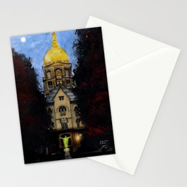 Golden Dome At Dusk: South Bend, IN Stationery Cards