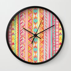 Summer Sun // Geometric Watercolor Wall Clock