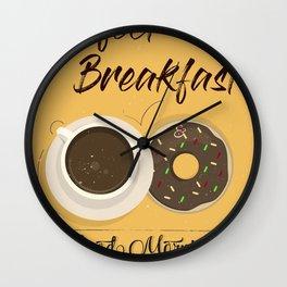 Poster 4 - Perfect Breakfast Wall Clock