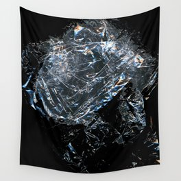 Clear Crumpled Plastic Wall Tapestry