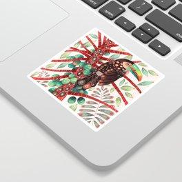 Toucan In A Fruit Tree Sticker