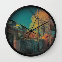 Montreal Alley Infrared 01 Wall Clock