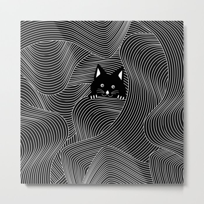 Crazy Cat Lady Metal Print