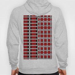 Pixel mosaic,red Hoody