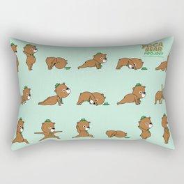 Yoga Bear Rectangular Pillow