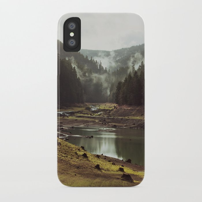 Foggy Forest Creek iPhone Case