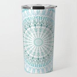 Turquoise White Mandala Travel Mug