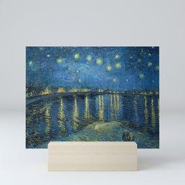 Van Gogh's Starry Night Over the Rhône (High Resolution) Mini Art Print