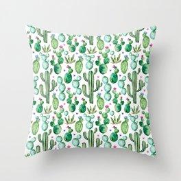 Cactus Oh Cactus Throw Pillow