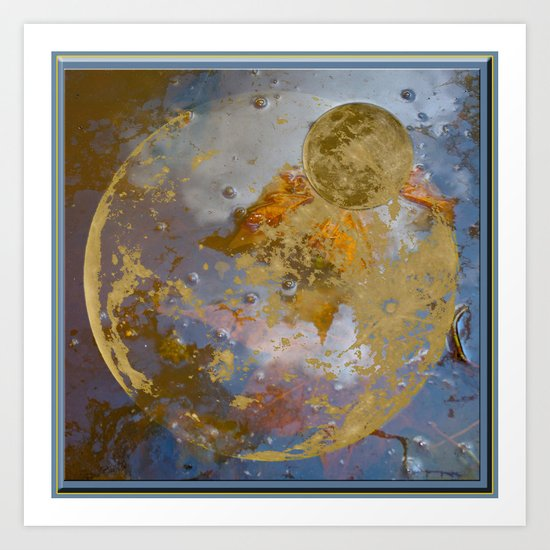 When the Moon fell into the Pond Art Print