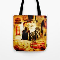 england Tote Bags featuring England Vintage  by Joe Ganech