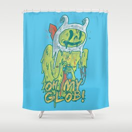Zombie Finn Shower Curtain