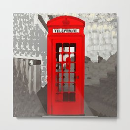 London-Red Phone Booth  Metal Print