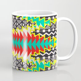 Tribal Beat Geo Neon Coffee Mug