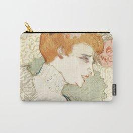 """Henri de Toulouse-Lautrec """"Mademoiselle Marcelle Lender, en Buste"""" Carry-All Pouch"""