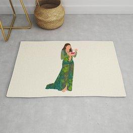 Jlo Eating Jello - Jennifer Green Dress Rug
