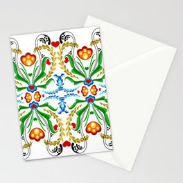 Scandinavian Folk Art ~ Tulip Mosaic Stationery Cards