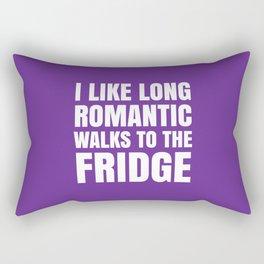 I LIKE LONG ROMANTIC WALKS TO THE FRIDGE (Purple) Rectangular Pillow