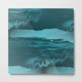 Water cometh to the Forest.... Metal Print