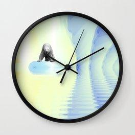 Polar Bear Fractal Wall Clock