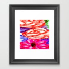 Roses and Daisies Framed Art Print